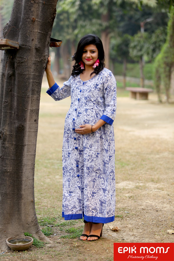ALL In The City Maternity and Nursing Maxi Dress