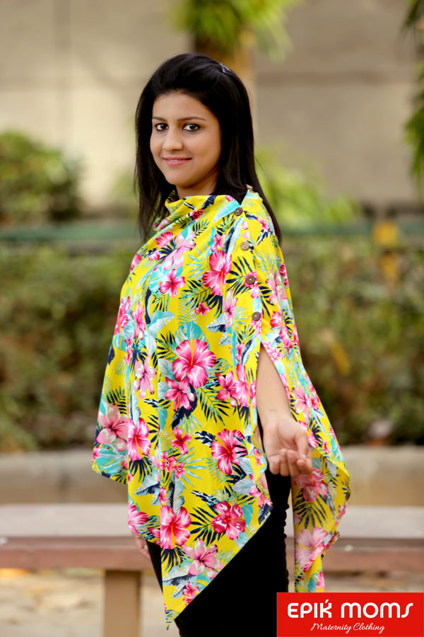 Springtime Maternity and Nursing Stole