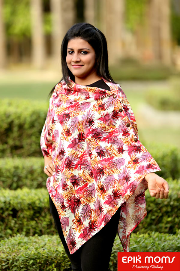 Autumn Leaf Maternity and Nursing Stole