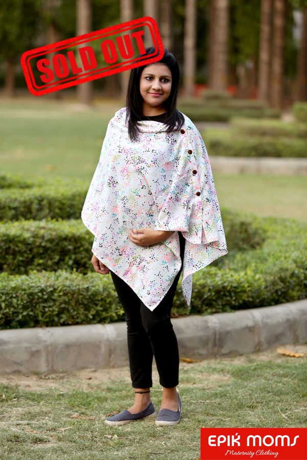 Fluttering Hues Maternity and Nursing Stole