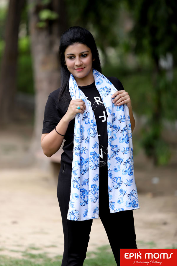 Blue Orchids Maternity and Nursing Stole