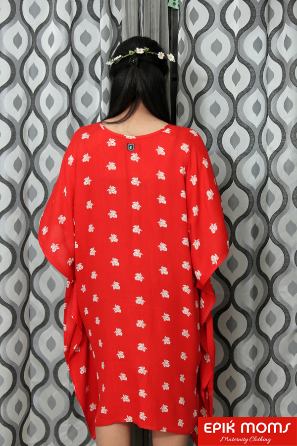 Scarlet Red Maternity and Nursing Kaftan