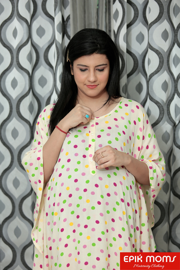 The Speckled Maternity and Nursing Kaftan