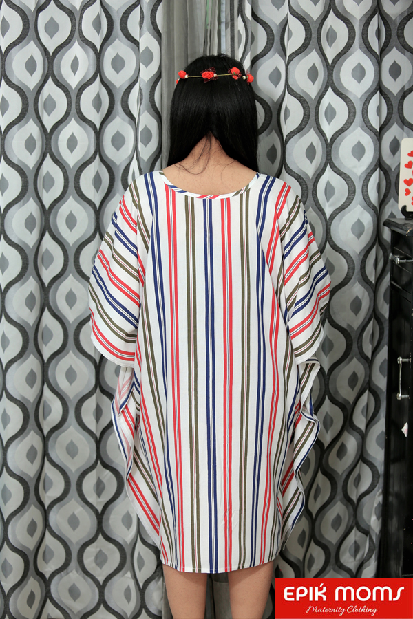 Chevron Maternity and Nursing Kaftan