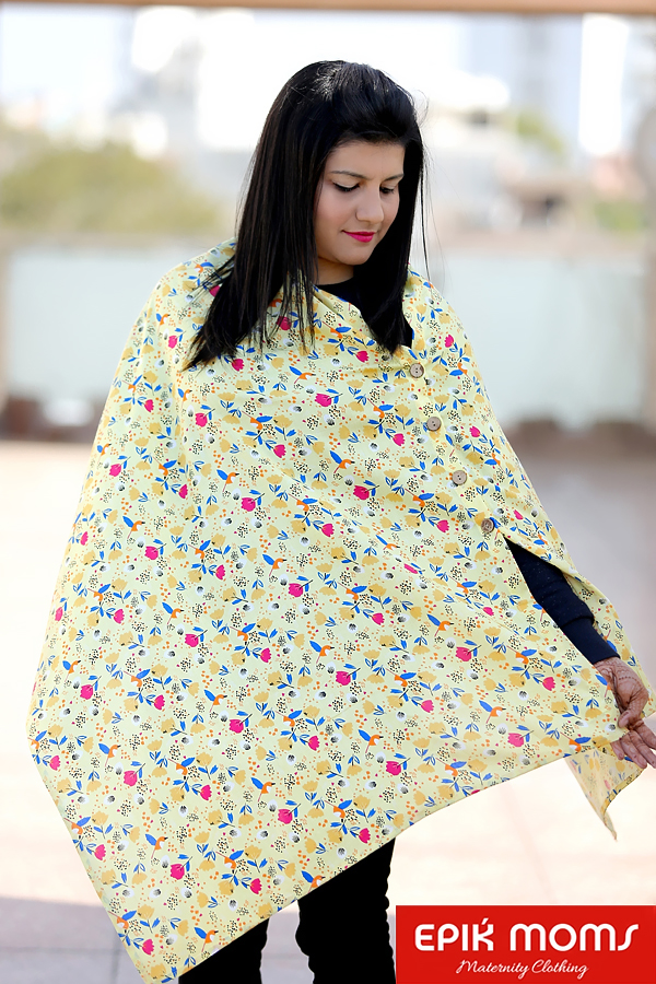 Mellow Yellow Maternity and Nursing Stole