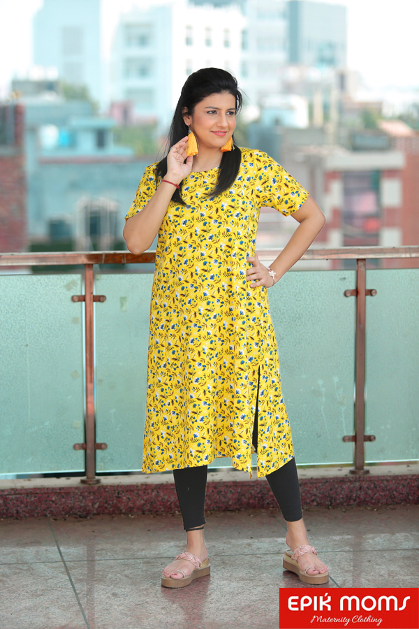 Iris Flush Maternity & Nursing Kurti