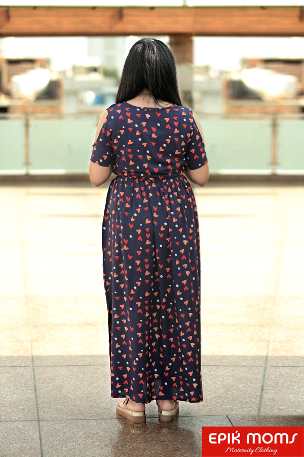 Spring Affair Maternity and Nursing MAXI DRESS