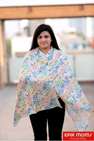 The Multi Floral Maternity & Nursing Stole