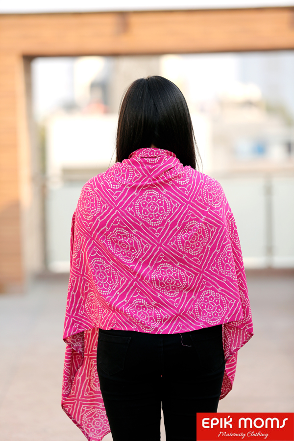 The Ethnic Pink Maternity & Nursing Stole