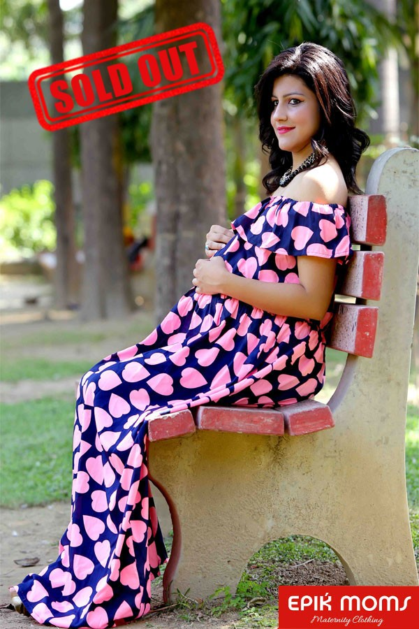 Heart to Heart Off Shoulder Maternity Gown